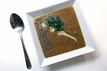 Fazolová polévka s chia semínky