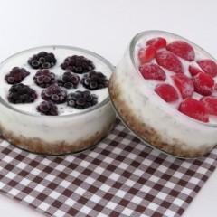 Jogurtové koláčky s ovocem