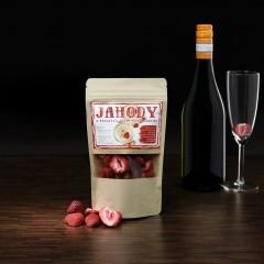 Mrazom sušené jahody do šumivého vína 20g