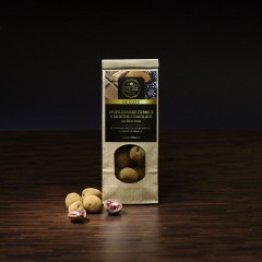 Mrazom sušené černice v mliečnej čokoláde so škoricou 50gr.