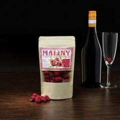 Mrazom sušené malinydo šumivého vína 20g